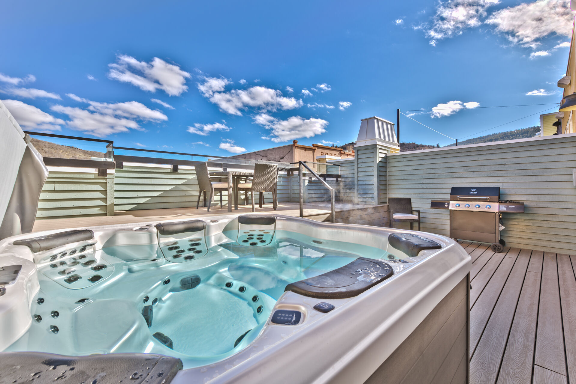 8-Person Hot Tub and BBQ Grill