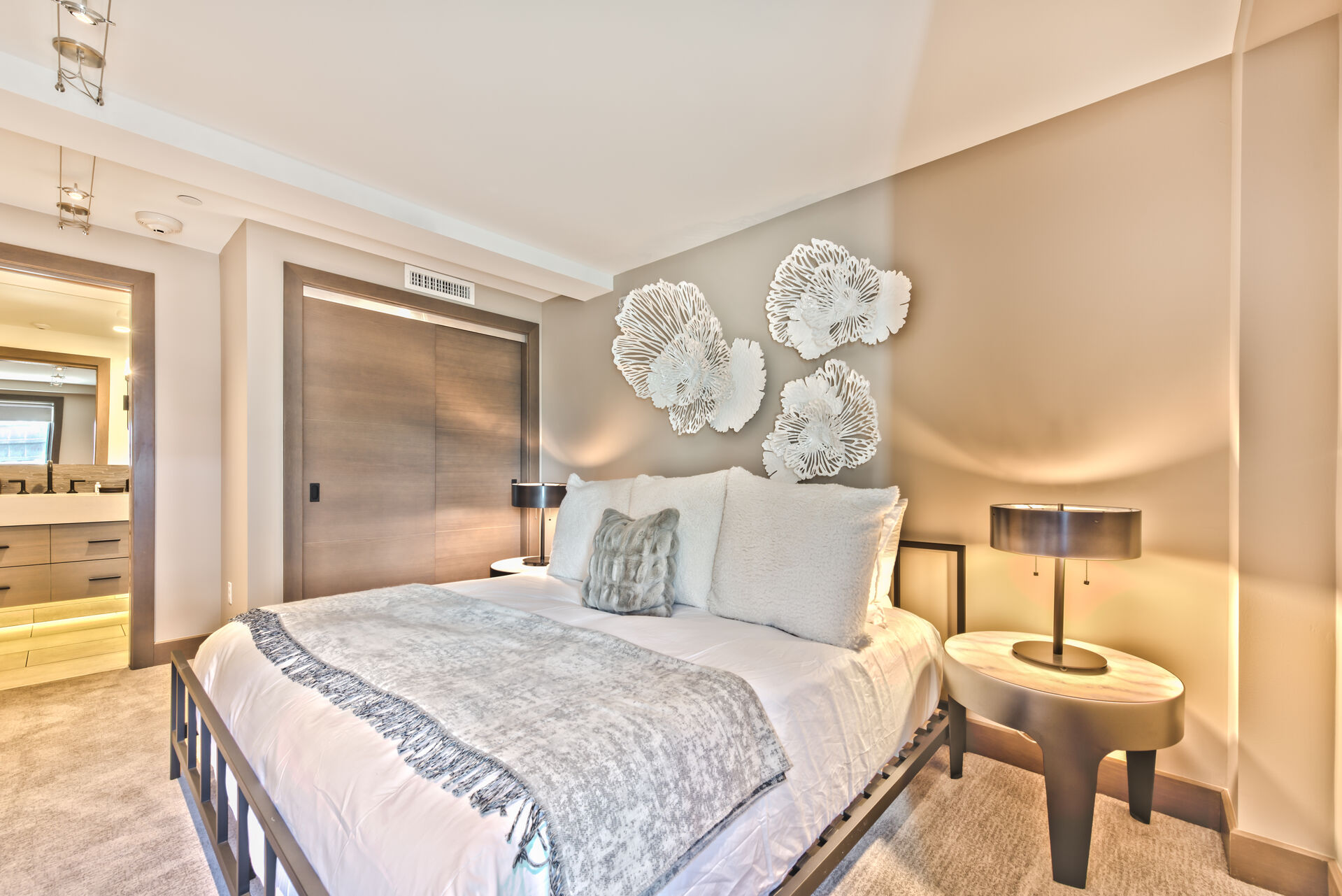 Upper Level Master Bedroom 3 with Queen Bed and Full Private Bath