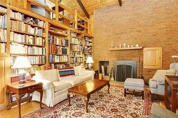Eastside Living area and fireplace