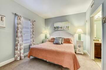 Big and bright comfortable king bed in main room