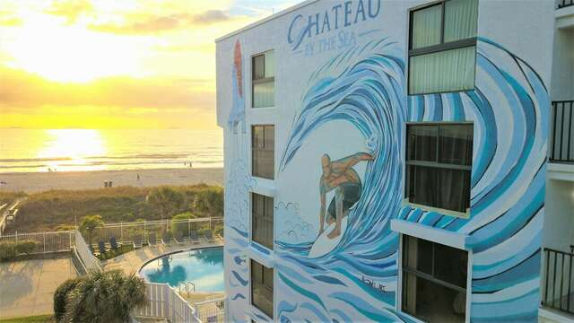 Chateau By The Sea's unique mural design exemplifies the beauty and history of Cocoa Beach.