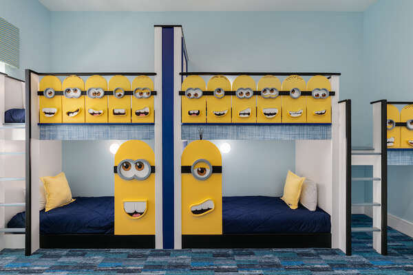 Kids will go bananas over this bedroom custom designed just for them
