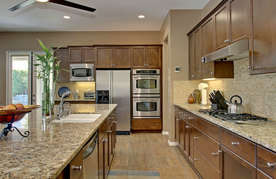 Kitchen with double oven