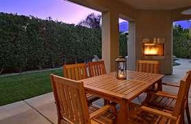 Sunset dinning backyard