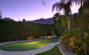 Twilight swimming in the pool
