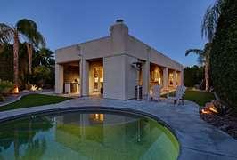 Pebble Tech pool and backyard