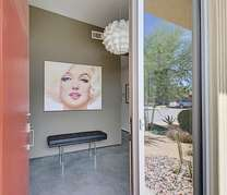 Marilyn greets you as you enter