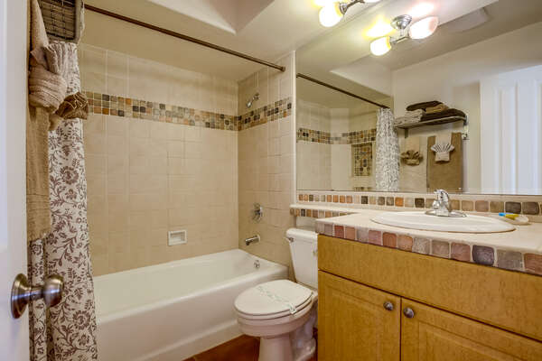 full bathroom: tub/shower combo