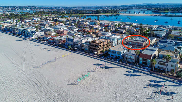 Aerial View of our Vacation Rental in San Diego Area.