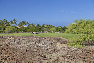 Picture of the Golf Course from our Waikoloa Vacation Rental