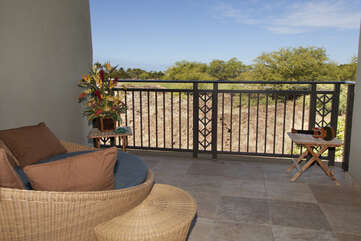 Upper Lanai off of Bedroom with Wicker Outdoor Chair