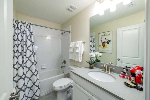 Upstairs Living Area Bathroom