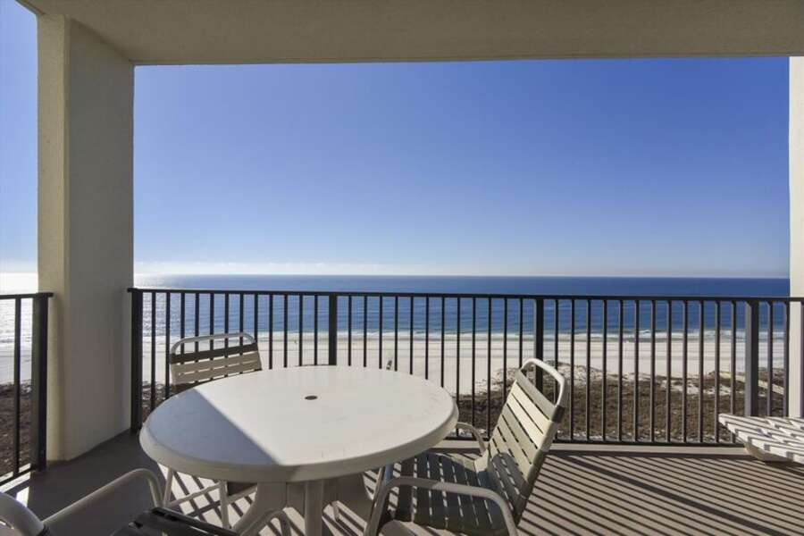 Private Balcony overlooking the Gulf