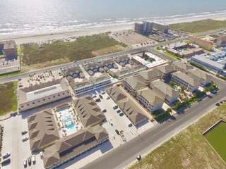 Aerial view of Townhome Community showing proximity to beach.