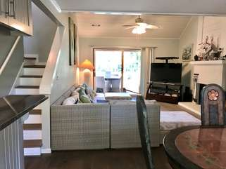 The open floor plan in this cottage makes it perfect for vacationing families.