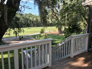 A view of the Ocean Winds Golf Course from the deck.
