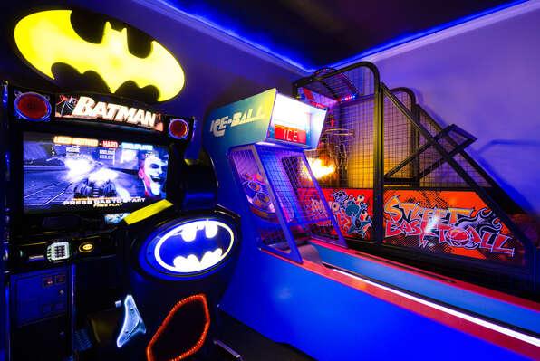 Batman, Skeeball & basketball arcades