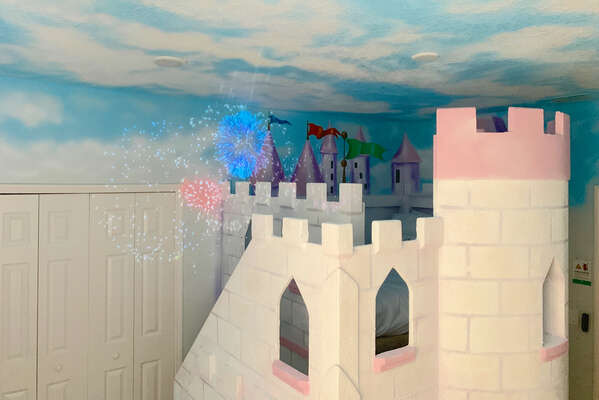 Projected fireworks for the little Princes and Princesses