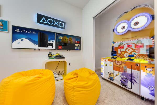 Games console and Minion arcade
