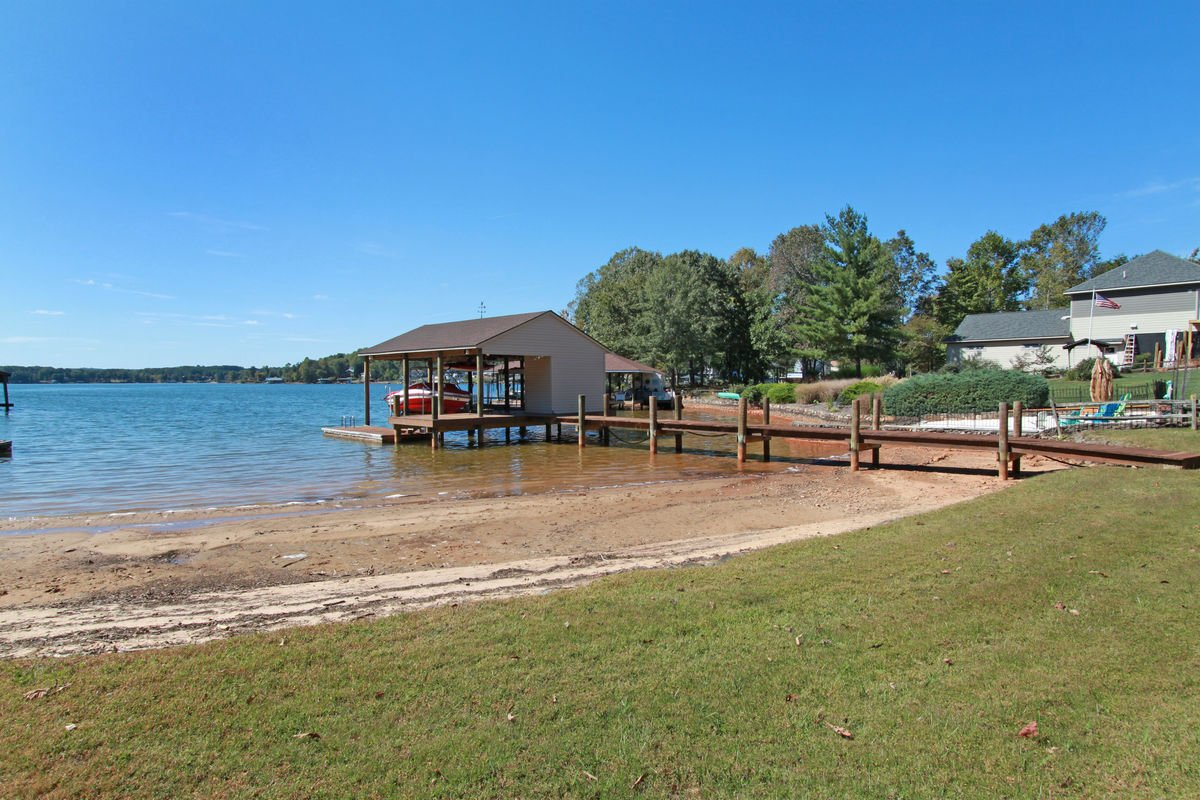 The Private Beach and Private Dock.