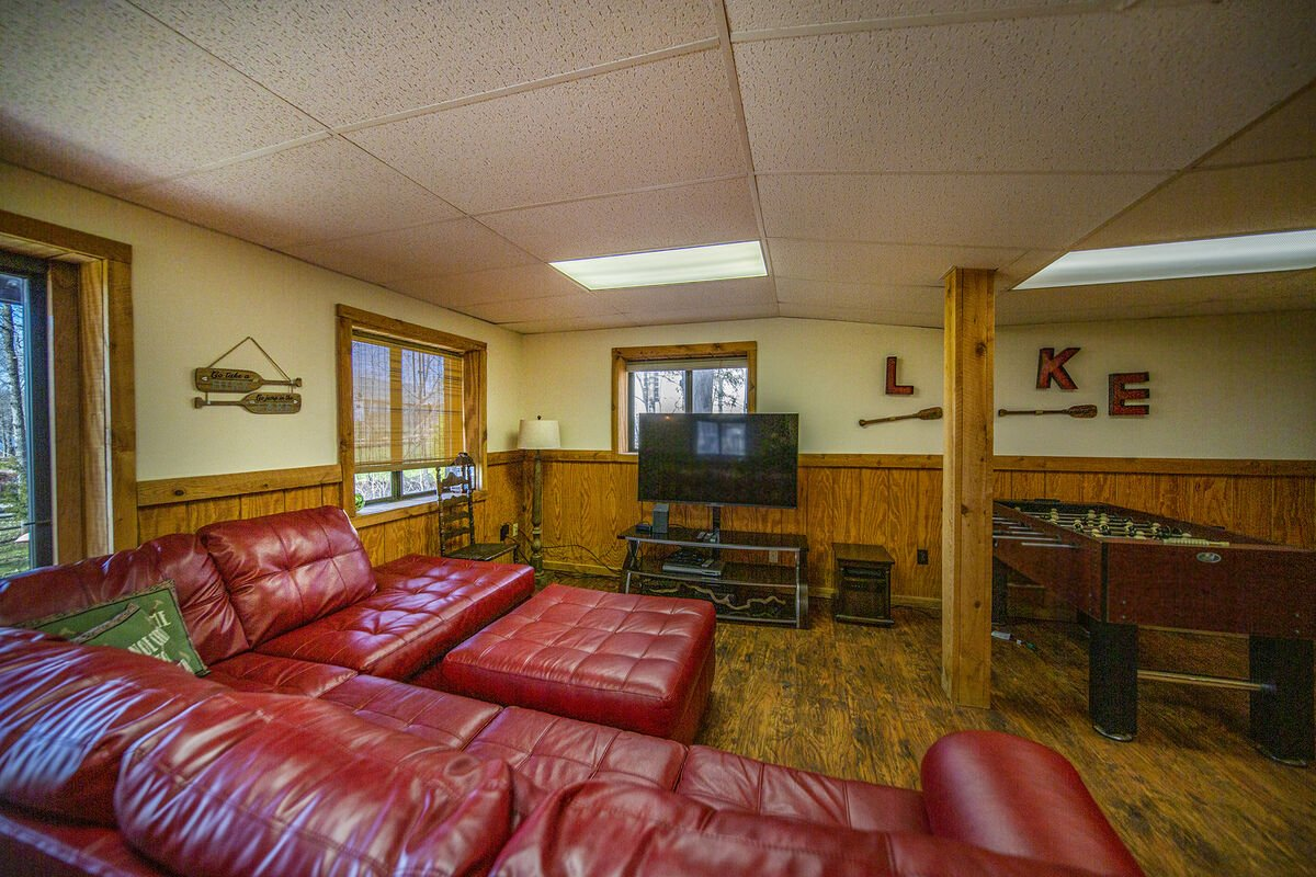 Lower Level TV and Game Room