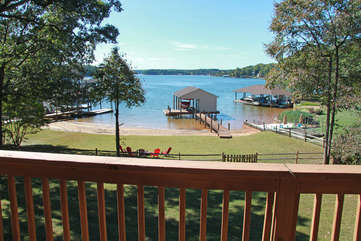 View of the Lake from the Balcony.