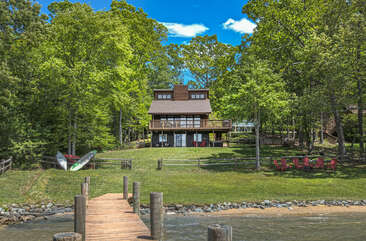 Rear Picture of our Smith Mountain Lake Vacation Rental Home.