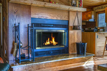 Cozy up to the Fireplace in Fall and Winter
