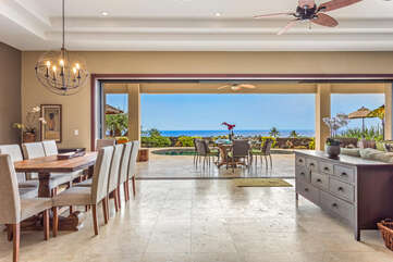 Ocean Views from the Living area at Hale Akoa