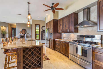 Fully Equipped Kitchen with Stainless Steel Appliances at Kona Hawaii Vacation Rentals