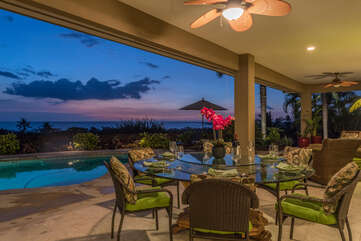 Lanai with Seating for 6 at Outdoor Dining Table
