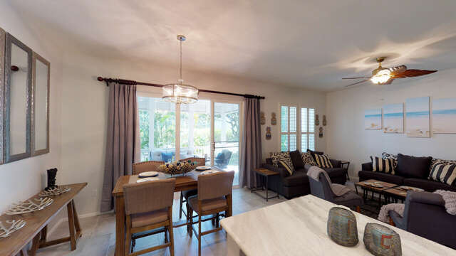 Living Area as Seen from the Kitchen of our Ko Olina Rental