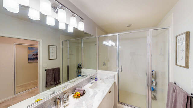 Master Bathroom with a Large Walk-in Shower