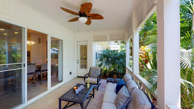 Large Spacious Lanai for Outdoor Living