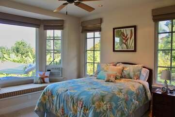 Bedroom 4 with Queen Bed, Pool and Ocean Views