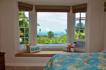 Bedroom with Queen Bed Pool and Ocean Views