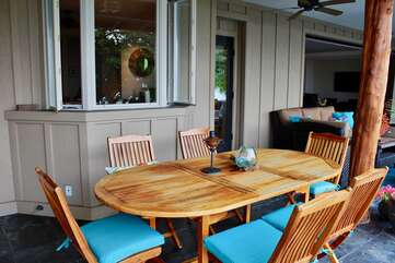 Outdoor Dining off Kitchen Door