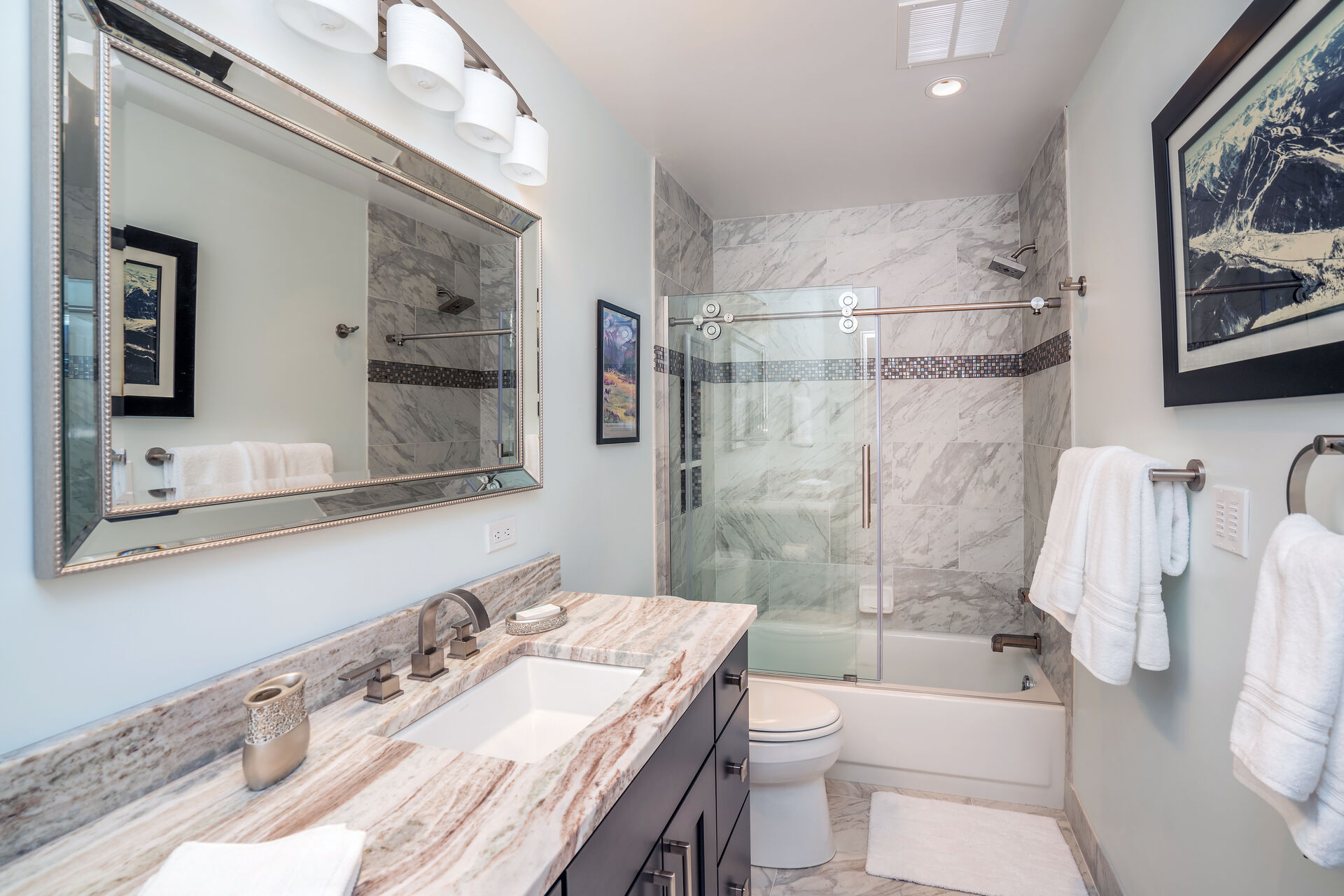 Shower-Tub Combo and Single Sink