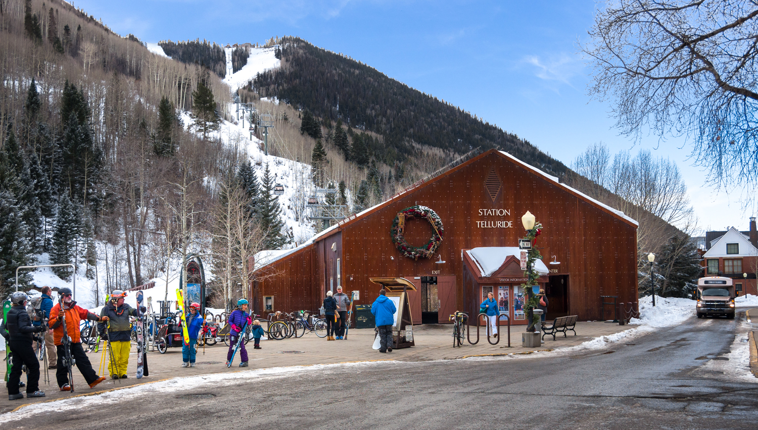 Front Picture of the Gondola Station Telluride