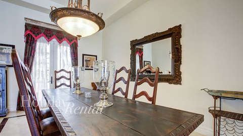 Formal dining room in front entrance of home