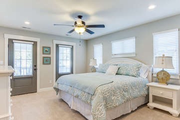 Master Bedroom with Balcony - King Bed