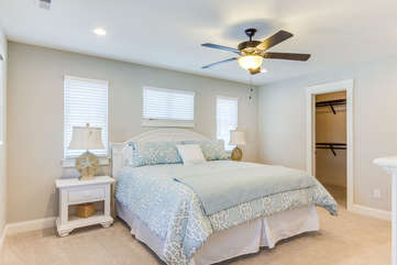Master Bedroom with Closet - King Bed