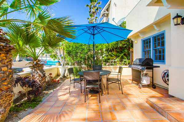 Spacious Patio at our Place to Stay in Mission Beach San Diego