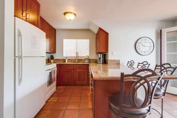 Fully Equipped Kitchen in our Place to Stay in Mission Beach San Diego
