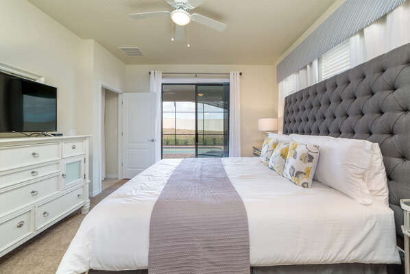 Make yourself feel at home in this downstairs master bedroom