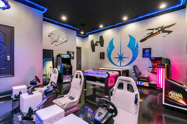 Spend long hours in the amazing game room