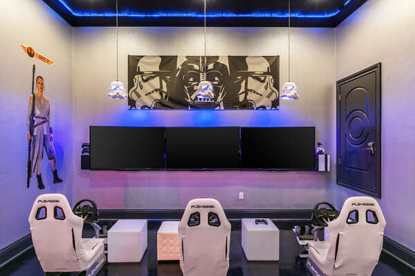 The games room allows you to play multi-player game with the SMART TV
