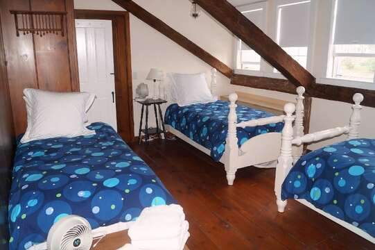 2nd floor. Bedroom #4 with 3 Twin beds - 117 Old Wharf Road Chatham Cape Cod - New England Vacation Rentals
