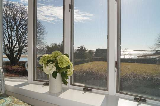 View from the Master Bedroom out to the Atlantic Ocean - 117 Old Wharf Road Chatham Cape Cod - New England Vacation Rentals