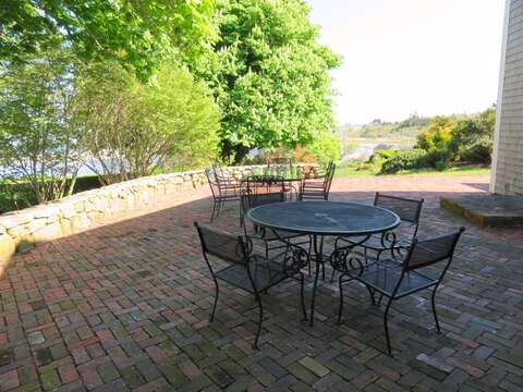 Outdoor dining set to enjoy the beautiful outdoors- there are both sunny and shady spots so pick your pleasure!  117 Old Wharf Road Chatham Cape Cod - New England Vacation Rentals